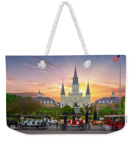 Horse Carriage At Jackson Square Weekender Tote Bag