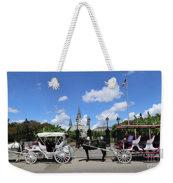 Horse Carriages Weekender Tote Bag
