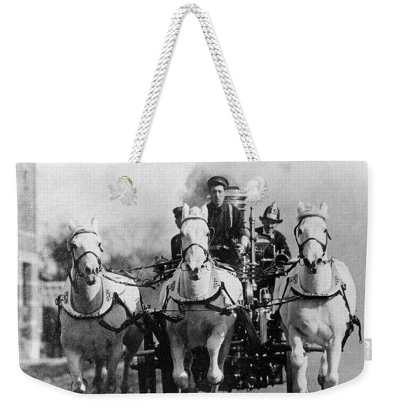Horse-drawn Fire Truck, C. 1890s-1900s Weekender Tote Bag