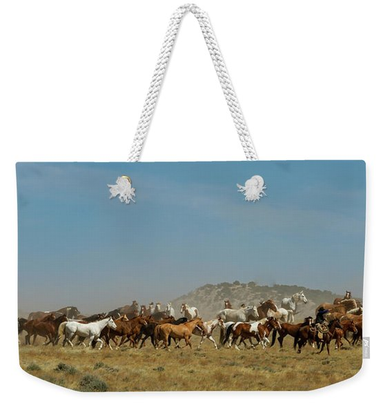Horse Drive Weekender Tote Bag