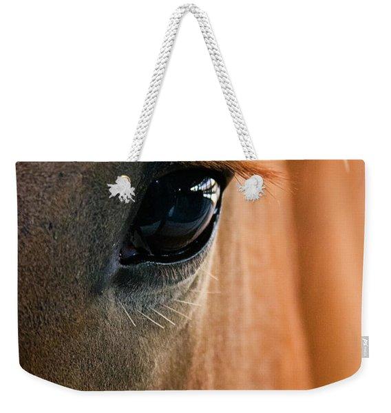 Horse Eye Weekender Tote Bag