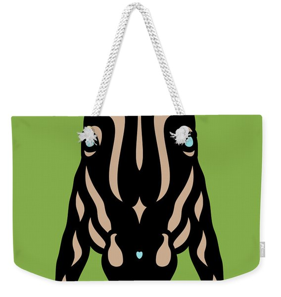Horse Face Rick - Horse Pop Art - Greenery, Hazelnut, Island Paradise Blue Weekender Tote Bag