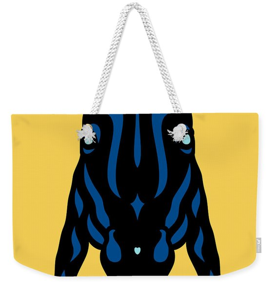 Horse Face Rick - Horse Pop Art - Primrose Yellow, Lapis Blue, Island Paradise Blue Weekender Tote Bag