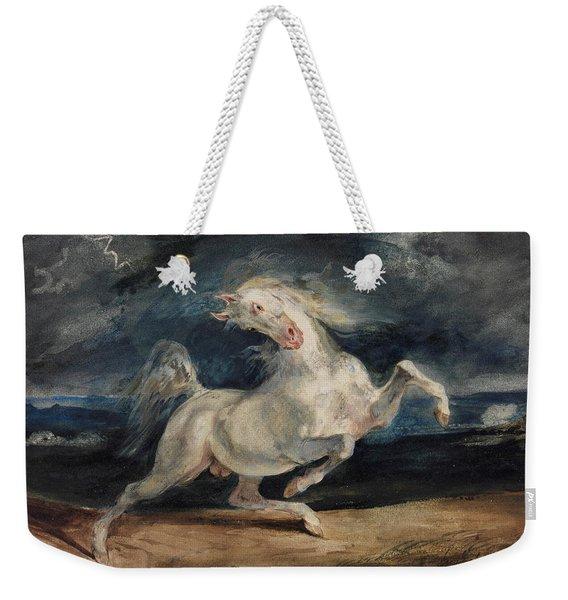 Horse Frightened By Lightning  Weekender Tote Bag
