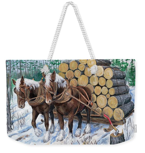 Horse Log Team Weekender Tote Bag