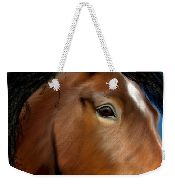 Horse Portrait Close Up Weekender Tote Bag