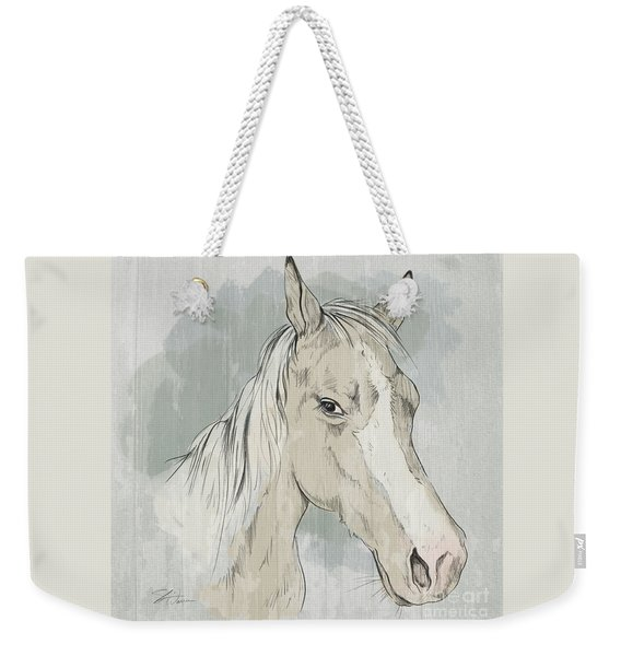 Horse Portrait-farm Animals Weekender Tote Bag