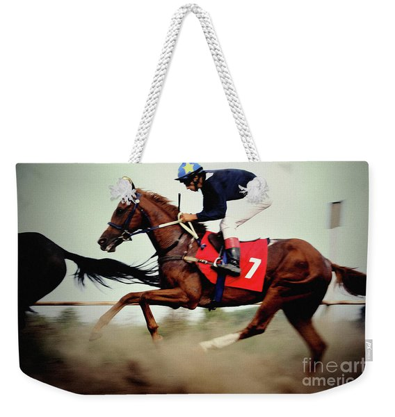 Horse Race - Motion Blurred Art Photography Weekender Tote Bag