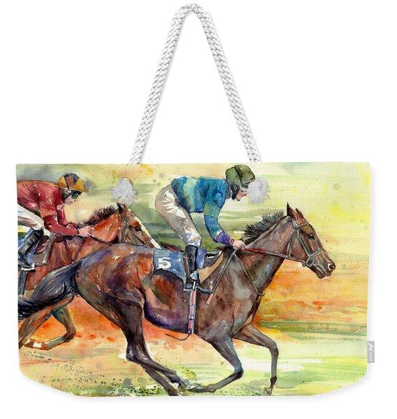 Horse Races Weekender Tote Bag
