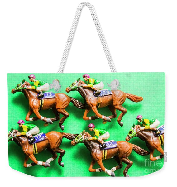 Horse Racing Carnival Weekender Tote Bag