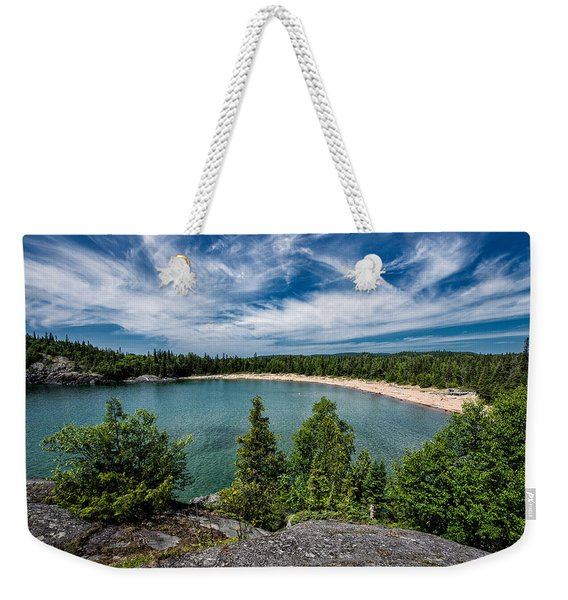 Weekender Tote Bag featuring the photograph Horse Shoe Bay by Doug Gibbons