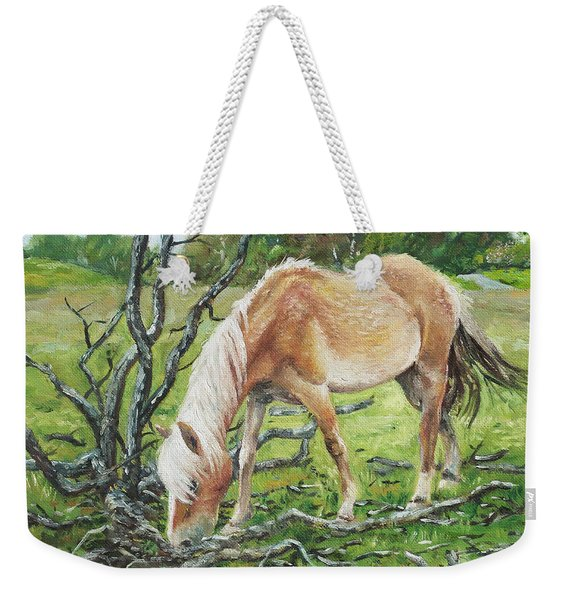 Horse With Burnt Tree Weekender Tote Bag