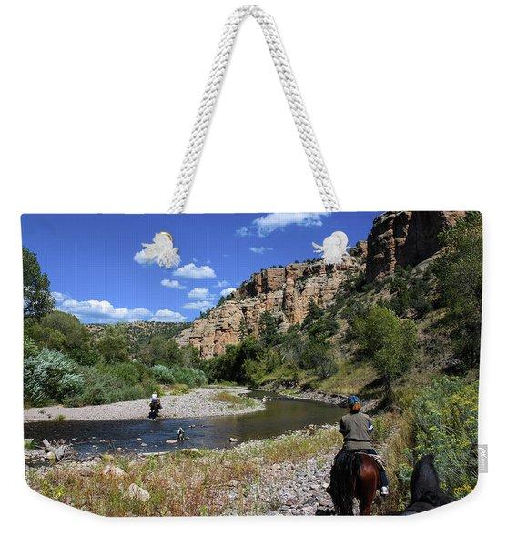 Horseback In The Gila Wilderness Weekender Tote Bag