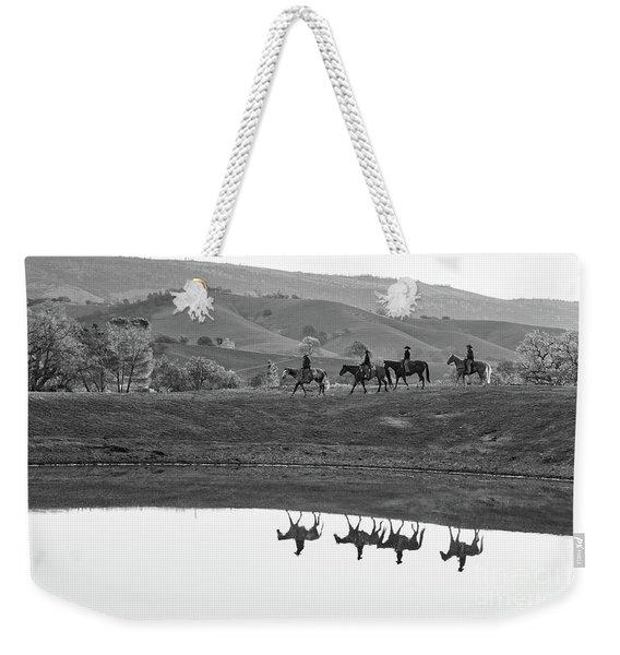 Horseback Landscape Weekender Tote Bag
