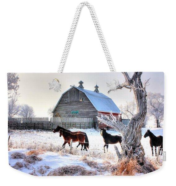 Horses And Barn Weekender Tote Bag
