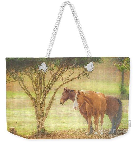 Horses In The Meadow Weekender Tote Bag