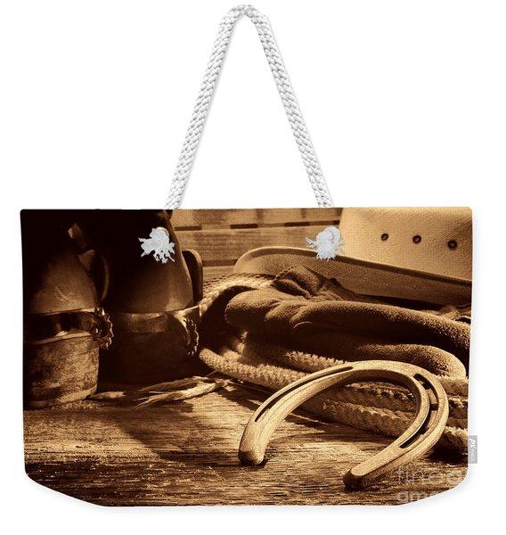 Horseshoe And Cowboy Gear Weekender Tote Bag