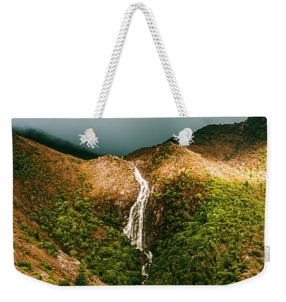 Horsetail Falls In Queenstown Tasmania Weekender Tote Bag