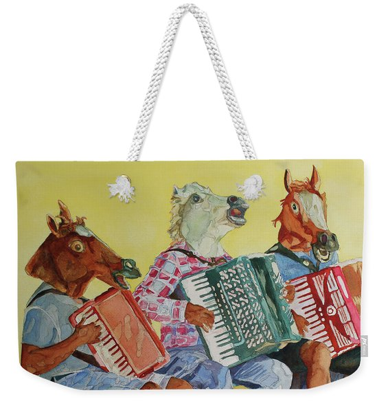 Horsing Around With Accordions Weekender Tote Bag