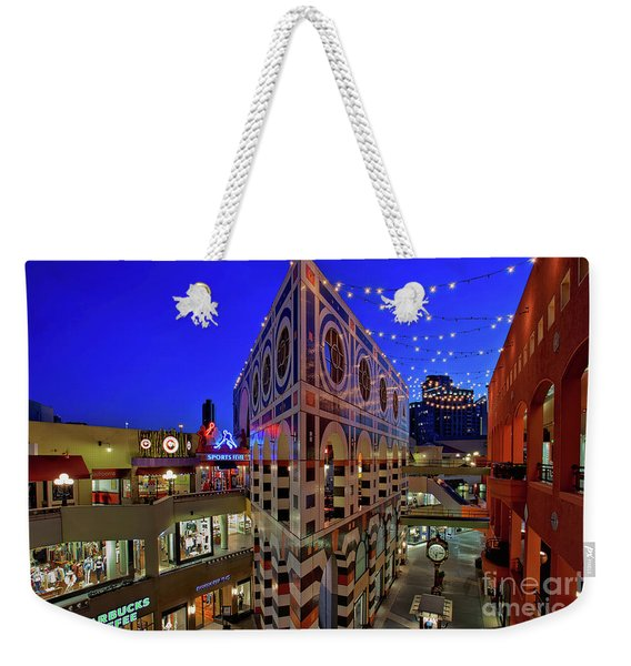 Weekender Tote Bag featuring the photograph Horton Plaza Shopping Center by Sam Antonio Photography