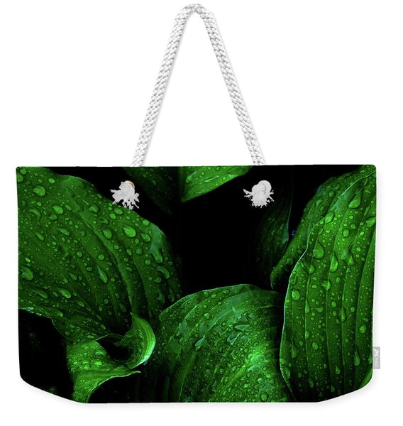 Hostas After The Rain I Weekender Tote Bag