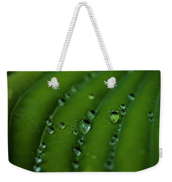 Hostas And Raindrops Weekender Tote Bag