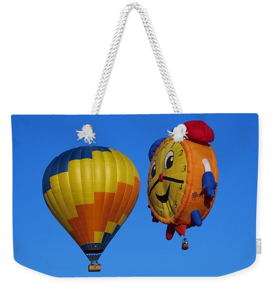Hot Air Balloon Conversation Weekender Tote Bag