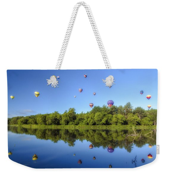 Quechee Balloon Fest Reflections Weekender Tote Bag