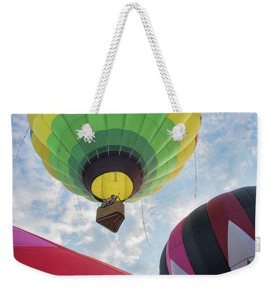 Hot Air Balloon Takeoff Weekender Tote Bag