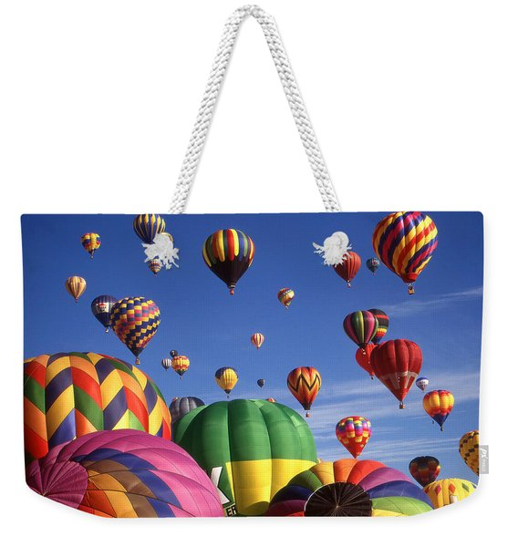 Beautiful Balloons On Blue Sky - Color Photo Weekender Tote Bag