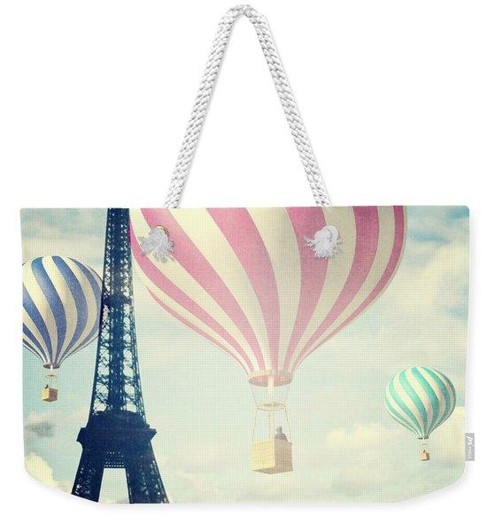 Hot Air Balloons In Paris Weekender Tote Bag
