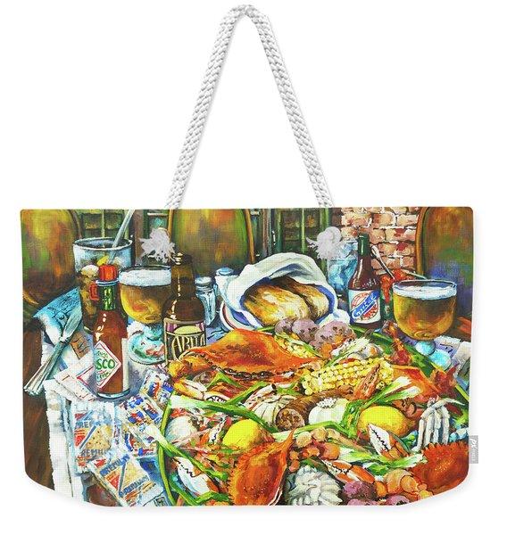Hot Boiled Crabs Weekender Tote Bag