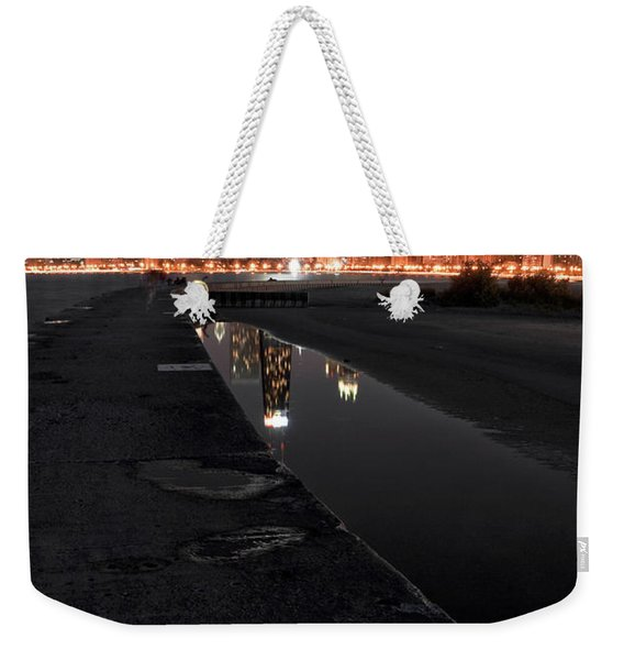 Chicago Hot City At Night Weekender Tote Bag