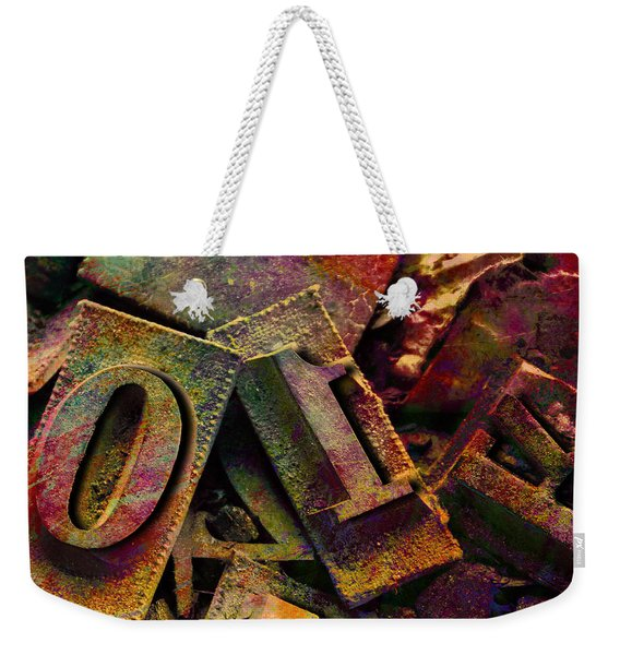 Hot Metal Type Weekender Tote Bag