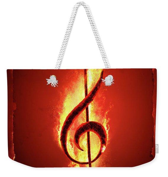 Hot Music Weekender Tote Bag