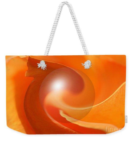 Hot Orange Globe Weekender Tote Bag