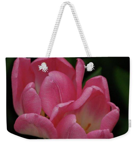 Hot Pink Tulip Weekender Tote Bag