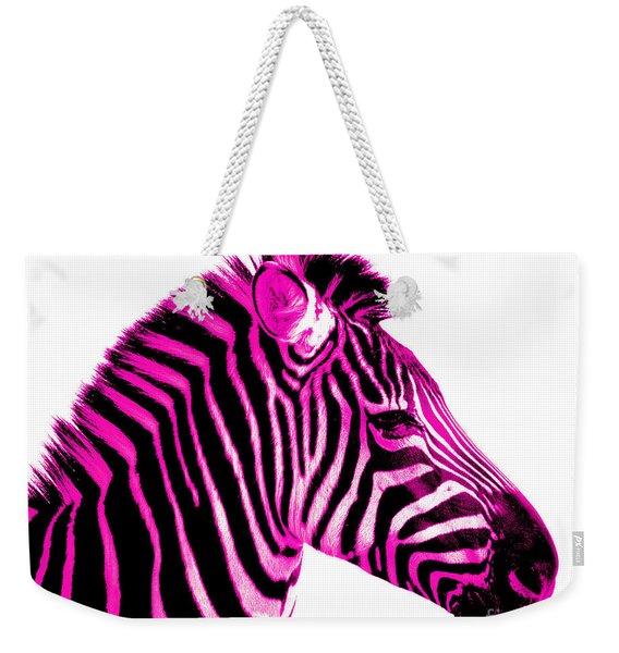 Hot Pink Zebra Weekender Tote Bag