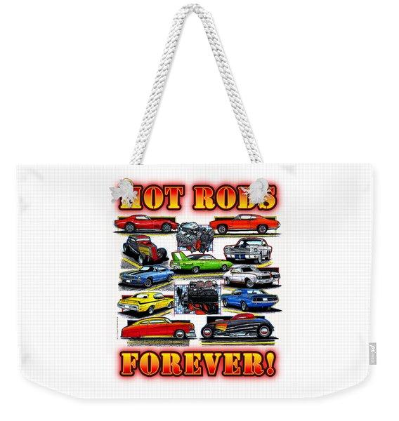 Hot Rods Forever Weekender Tote Bag
