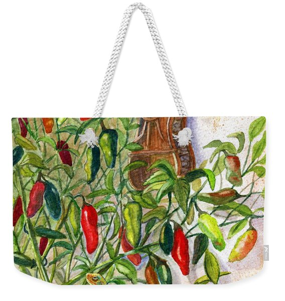 Hot Sauce On The Vine Weekender Tote Bag