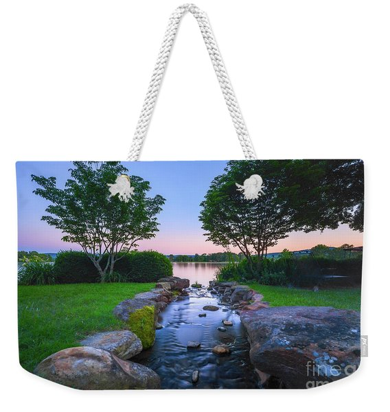 Hot Spring Water Flow Weekender Tote Bag