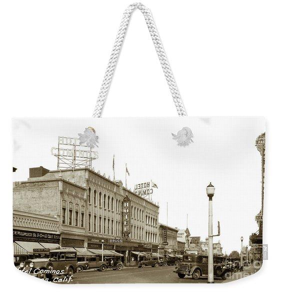Hotel Cominos On Main Street In Salinas, Calif. Circa 1932 Zan Stark Photo # 423  Weekender Tote Bag