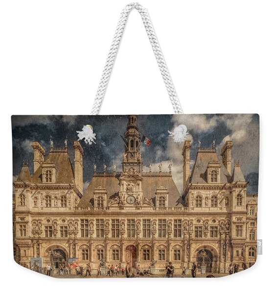 Paris, France - Hotel De Ville Weekender Tote Bag