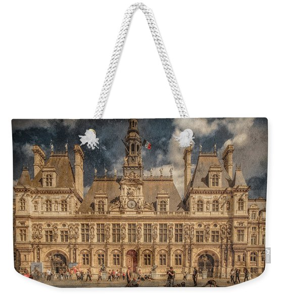 Paris, France - Hotel De Ville Weekender Tote Bag