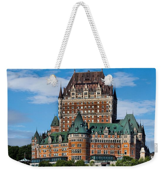 Chateau Frontenac In Quebec City Weekender Tote Bag