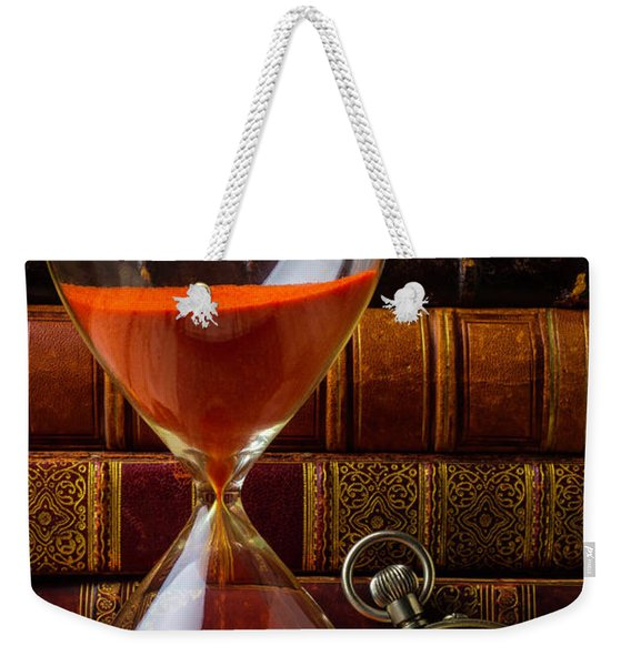 Hourglass And Pocket Watch Weekender Tote Bag