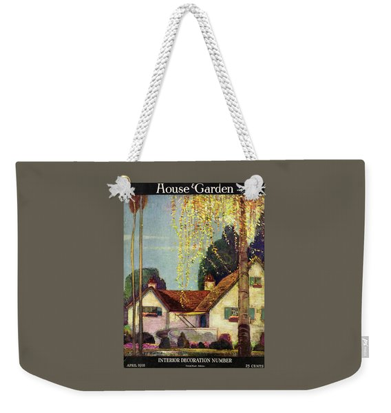 House And Garden Interior Decoration Number Cover Weekender Tote Bag