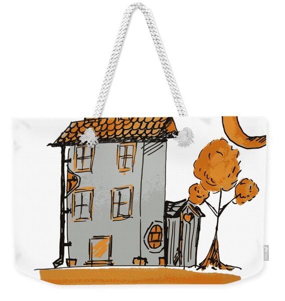 House And Moon Weekender Tote Bag