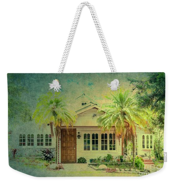 House Behind Two Palm Trees Weekender Tote Bag
