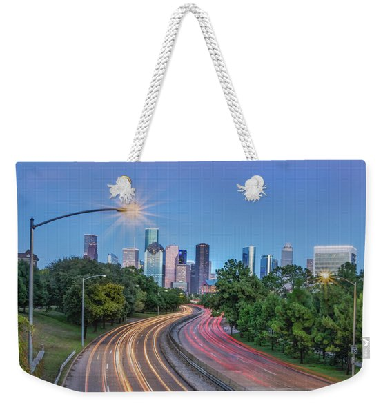 Houston Evening Cityscape Weekender Tote Bag